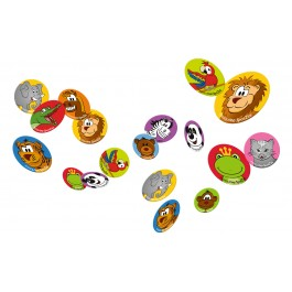 SpotZzz Stickers 30-pack Safari Animals